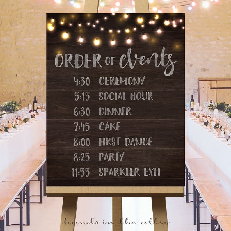 Rustic Wedding Signs.Printable Large Wedding Signs Rustic Wedding Ideas Wedding Ceremony Sign Wedding Day Schedule Order Of Events Wedding Sign Digital
