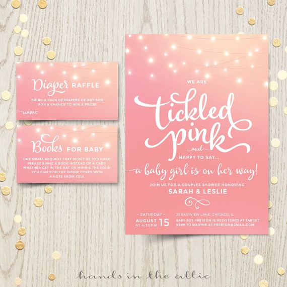 Tickled Pink Baby Shower Invitations Invite Printable Baby