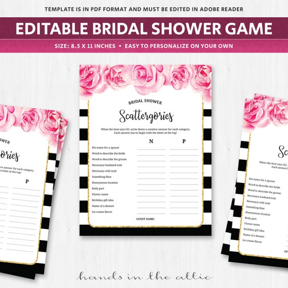 photo relating to Printable Scattergories Lists known as Bridal scattergories groups match, deep red fuschia bouquets florals subject areas worksheet template quiz surprise playing cards french spanish Electronic