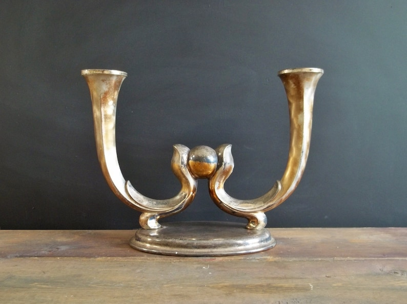 Silver Distressed Cherub 21 cm Candlesticks Holders Pair Of White