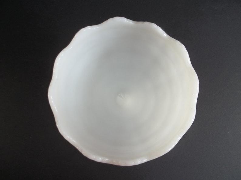 White Bowl Candy Fruits Dish Vintage Milk Glass Pedestal Pot Flower Vase 1960/'s Ceramic Retro Kitchen Centerpiece By Napco Made U.S.A