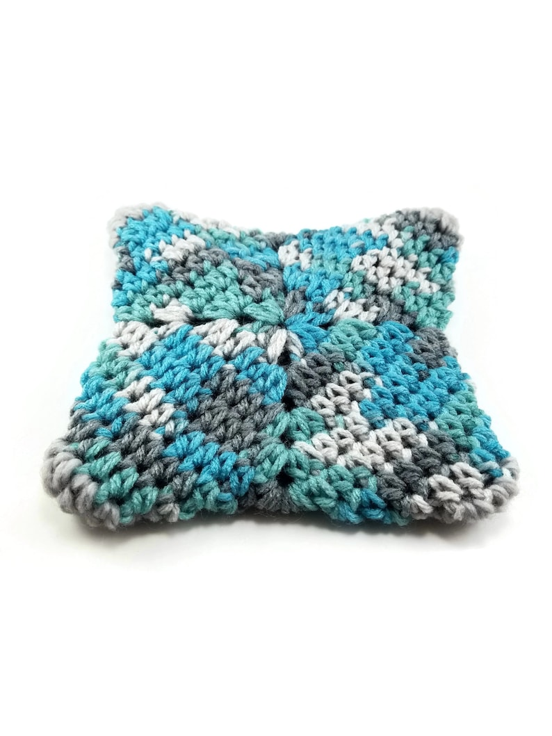 Small Crochet Purse Coin Change Purse Green Crochet Pouch Bag