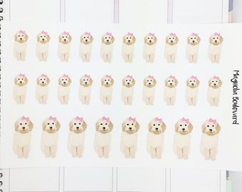 Girl Goldendoodle Planner Stickers! Perfect for your Erin Condren Life Planner, Plum Paper, Filofax, Kikki K, Happy Planner, Day Designer