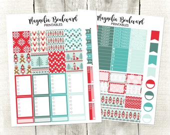 PRINTABLE Happy Christmas Planner Stickers! Perfect for your Erin Condren Life Planner!