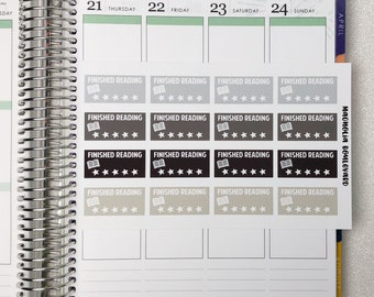 Neutral Finished Reading Planner Stickers! Perfect for your EC Life Planner, Inkwell, MAMBI Happy Planner, Calendar, ETC.