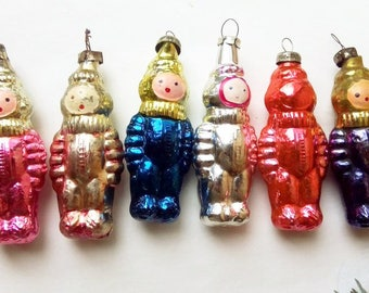 cosmonauts collection vintage christmas decoration soviet glass ornaments christmas tree glass ornamentsantique christmas ornament