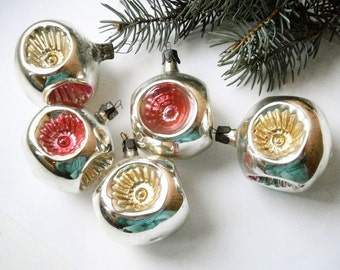 sale 5 vintage christmas decoration soviet glass ornaments christmas tree glass ornamentsantique christmas ornament - Vintage Christmas Ornaments For Sale