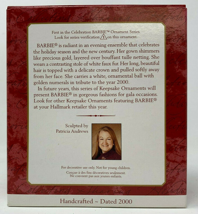 Hallmark Keepsake Ornament Celebration Barbie Special 2000 Edition WBox