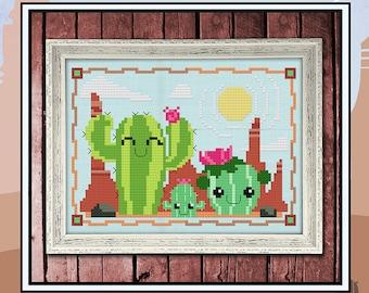 Three's Company  PDF Cross Stitch Pattern: Exclusive Autumn Lane Stitchery (digital download)