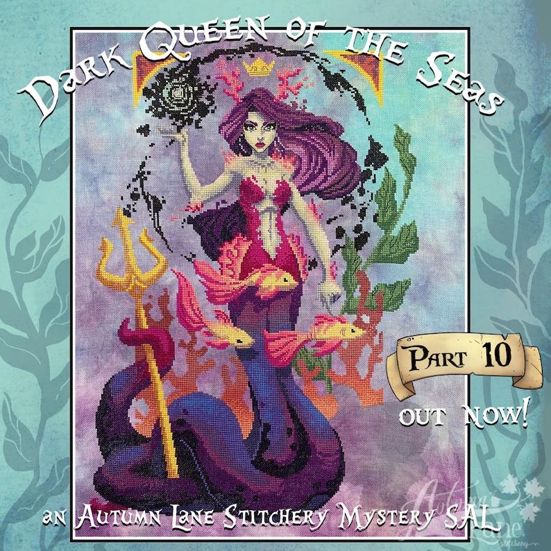 Dark Queen of the Seas Mystery SAL  Cross stitch pattern  image 0