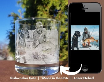 Personalized Portrait Rocks Glass   Pet lovers gift, For Pet Lovers, Pet photography, Custom Photography Glassware, Pet Memorial Gift