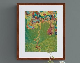 11x14 - Shofar / Rosh Hashanah (2) / High Holy Days - 11 x 14 Giclee Fine Art Print