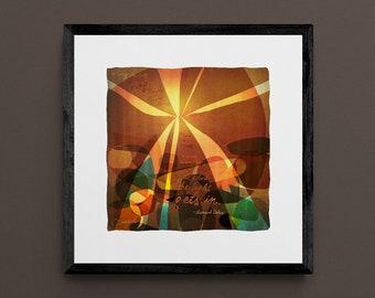 How the Light Gets In - 12x12 Giclee Fine Art Print - Inspired by Leonard Cohen Lyrics