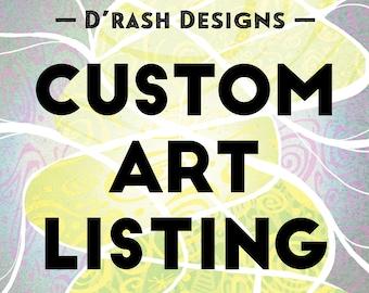 CUSTOM LISTING - A.J. - 11x14 Custom Shoftim Design