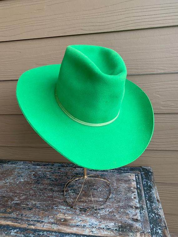 Vintage American Hat Co. Rare Green Pure Wool Cowb