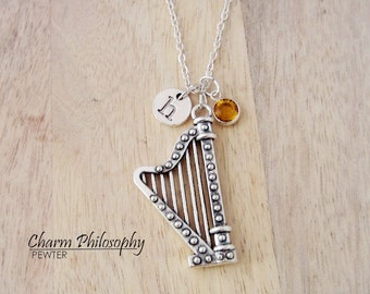 Harmony Jewelry Harp Necklace Guitars & Basses Other Guitars Pewter