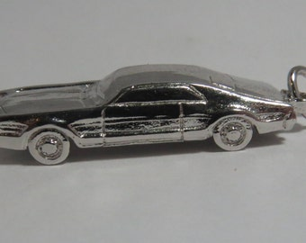 Cadillac Car Sterling Silver Charm for Bracelet or Pendant.