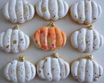 Mini Pumpkin Sugar Cookies - Halloween Cookies - Mini Cookies - Sugar Cookies