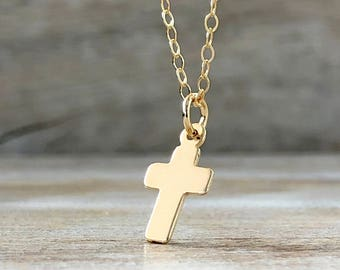 Sideways Cross Necklace Valentines Gift Tiny Gold Cross Clothing Gift Religious Necklace Dainty Gold Choker Sterling Silver Cross Choker