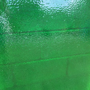 English Muffle EMERALD GREEN Transparent Stained Glass E31 Sheet