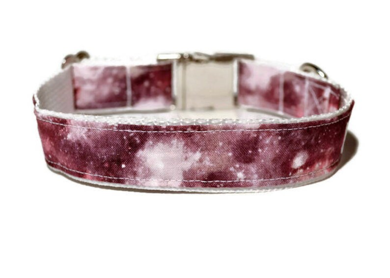 Pink With Hearts Dog Collar