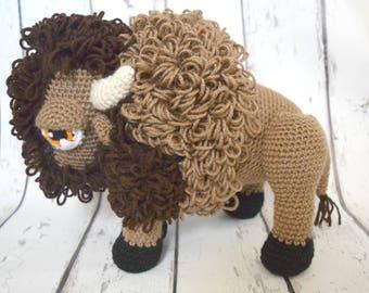 Buffalo, HUGE Buffalo, Bison, Giant Buffalo, Crochet Buffalo, Crochet Bison, Buffalo Toy, Buffalo Stuffed Toy, Crochet Stuffed Toy