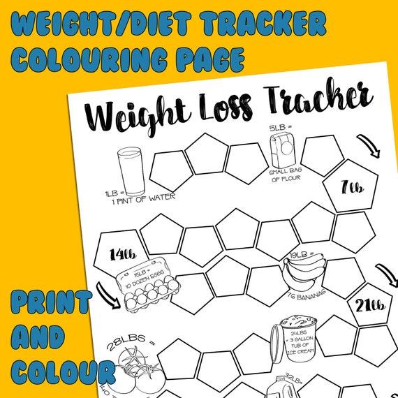 graphic regarding Weight Loss Tracker Printable known as Pounds Decline Tracker, Printable Tracker, Colouring Tracker, Downloadable Tracker