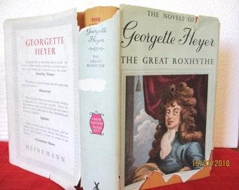 Georgette Heyer THE GREAT ROXHYTHE 1951 hcdj historial fiction, very rare