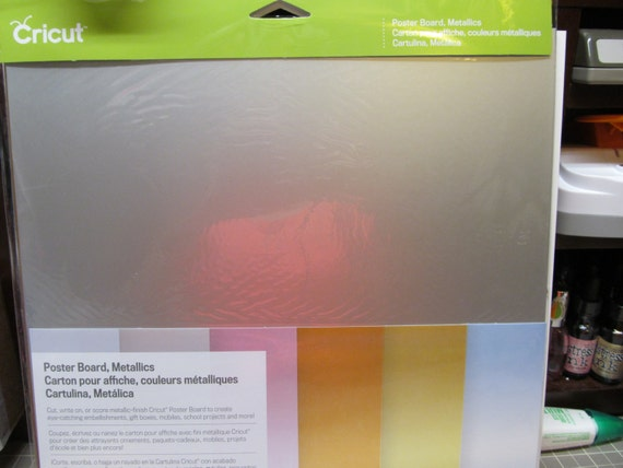 Items Similar To Cricut Poster Board Metallics Amp Poster
