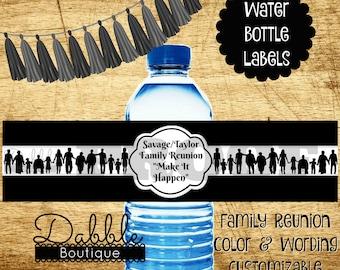 Family Reunion Water Bottle Labels Reunion Water Bottle Labels