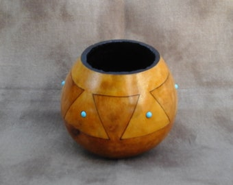 """Southwest """"Pottery"""" Gourd (small)"""