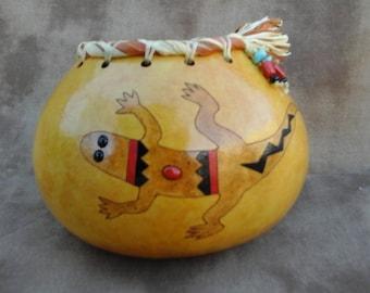 Southwestern Gourd, Lizard Bowl