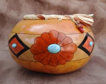 Southwestern Gourd, Blossom Bowl