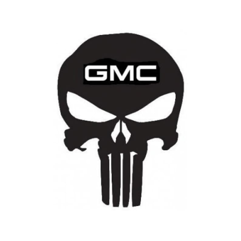 Chevy Punisher Skull Decal 003 Choose Size and Color