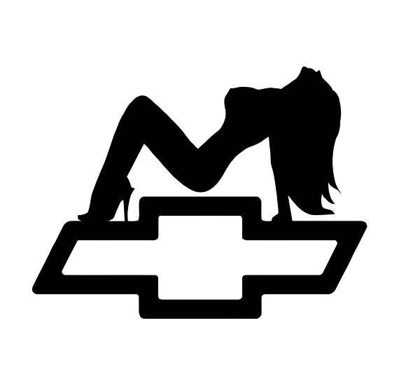 Sexy Girl Silhouette With Chevy Emblem Decal Choose Size And Etsy