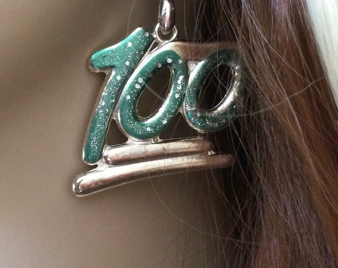 100 days Smarter 100 days clean 100th day of school Kindergarten Teacher earrings ONE HUNDRED earrings 100 days Cray Cray 100 bday