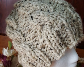 Super chunky cabled knit cap