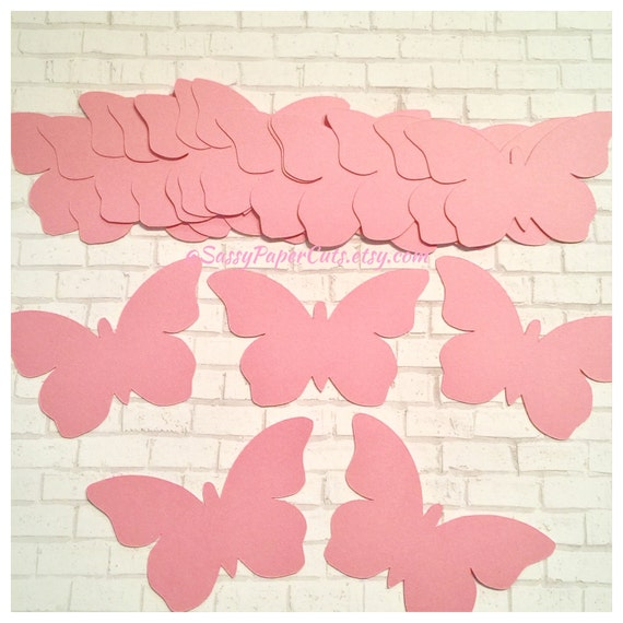 Wedding Baby Shower Large Butterfly Confetti 50 Gray Paper Butterfly Die Cuts 2 Inch Butterfly Butterfly Cut Outs Birthday