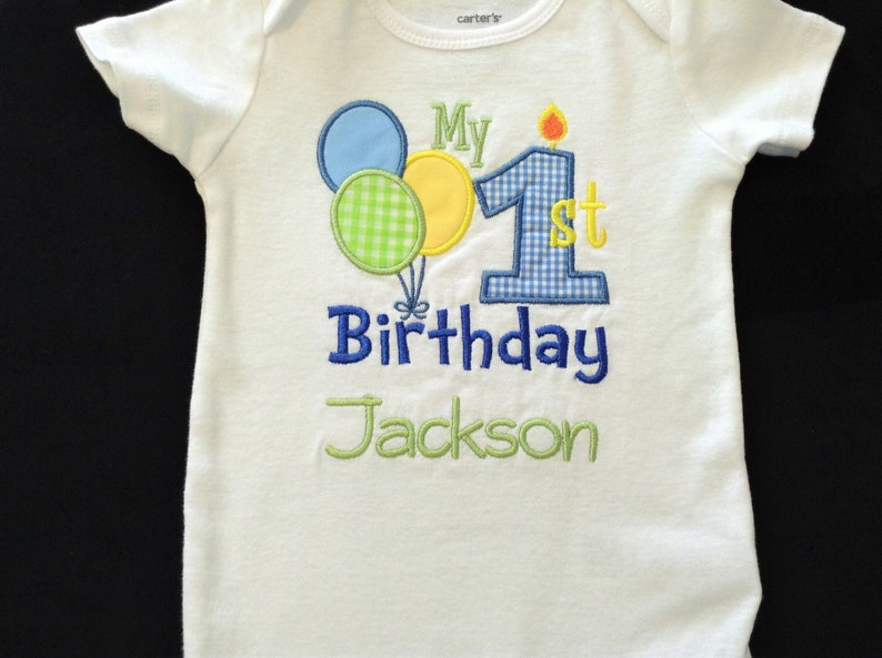 Personalized 1st Birthday Shirt First Bodysuit Boy