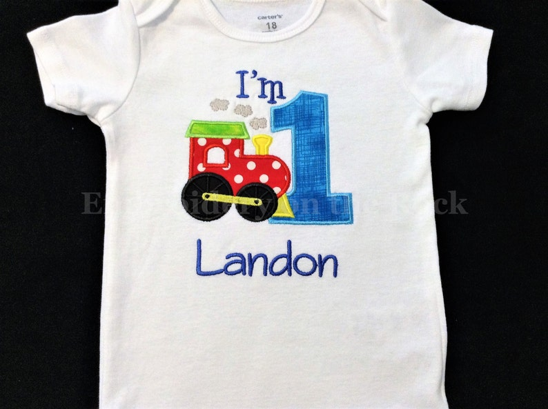 Train 1st Birthday Shirt Boy