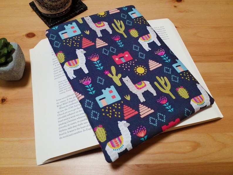 Alpaca Book Sleeve Llama Book Pouch for Book Lovers image 0