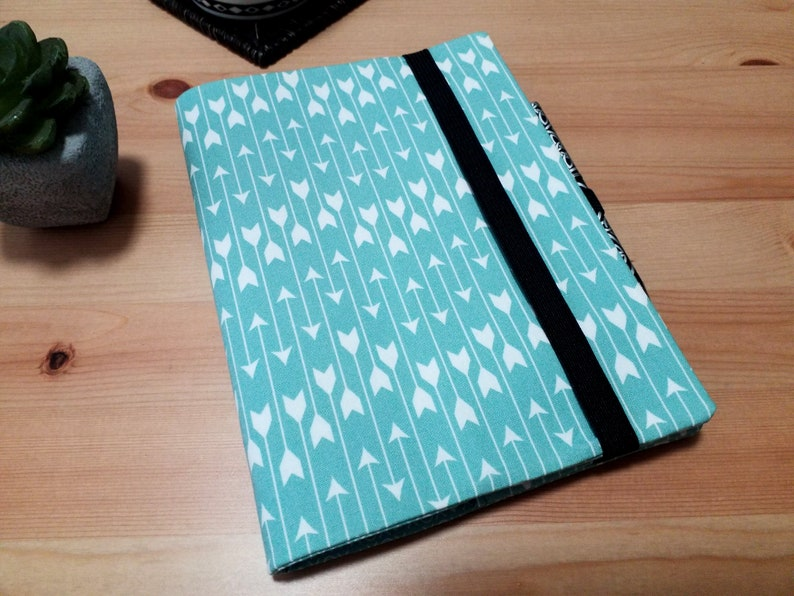 Arrows Notebook Cover with Pen Loop and Elastic Closure A5 image 0