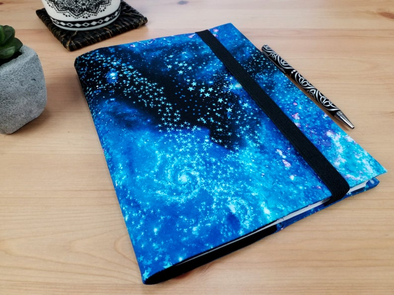 Space Odyssey A5 Fabric Journal Cover with Elastic Closure image 0