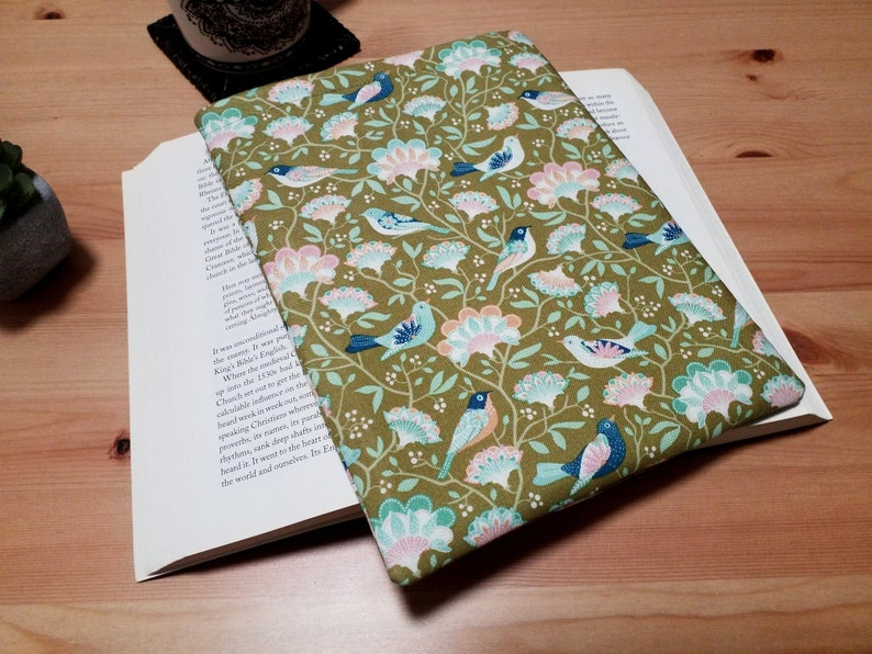 Book Lovers Book Sleeve Tilda Bird Tree Book Pouch image 0