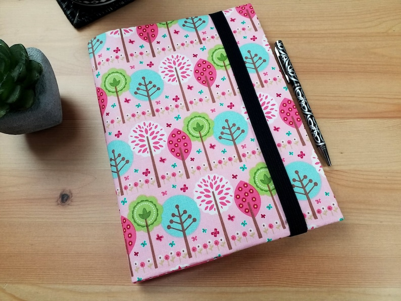 Summer Song Pink A5 Journal Cover with Elastic Closure image 0