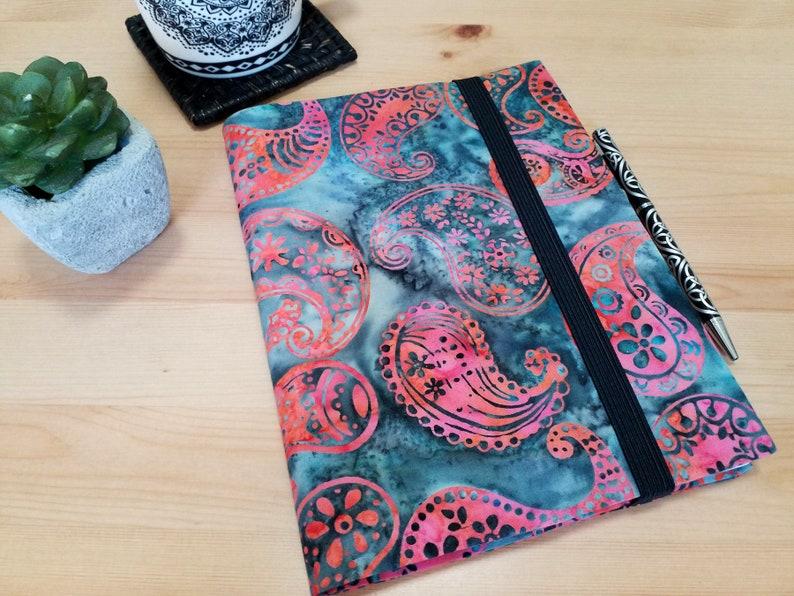 A5 Batik Journal Cover with Elastic Closure image 0