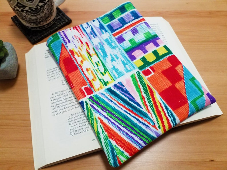 Padded Book Sleeve Serape Book Protector Travellers Gift image 0