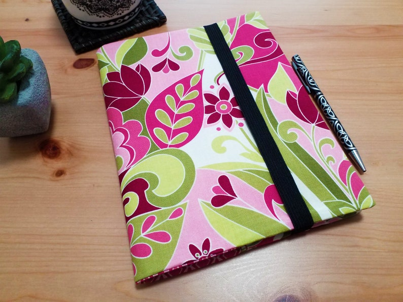 Floral Diary Notebook Cover with Elastic Closure image 0