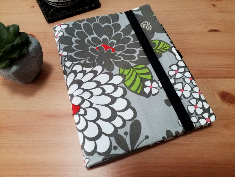 Journal Cover with Pen Loop and Elastic Closure Satchi Grey image 0