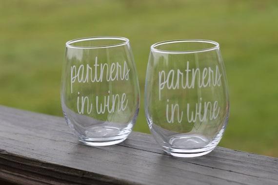 Partners In Wine Glass Set